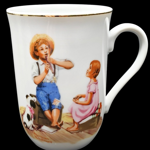 Vintage Other - Vintage Norman Rockwell Collectible Cups (3)